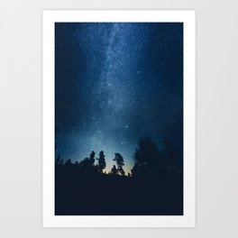 Follow the stars Art Print