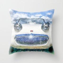 Happy Happy Fun Car Throw Pillow