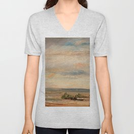 """John Constable """"Cloud Study, Early Morning, Looking East from Hampstead"""" Unisex V-Neck"""