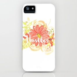 Hustler Watercolor orange iPhone Case