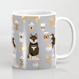 Shiba Inu coffee dog breed pet friendly pet portrait coffees pattern dogs Coffee Mug