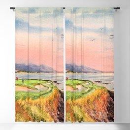 Pebble Beach Golf Course 7th Hole Blackout Curtain