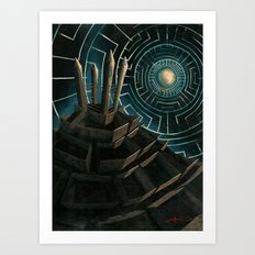 Kafkas castle Art Print