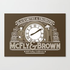 McFly & Brown Blacksmiths Canvas Print