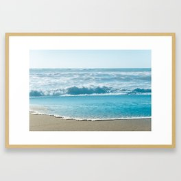 Blue Sea Backdrop Framed Art Print