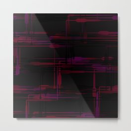 Purple Passion Plumbing Abstract Metal Print