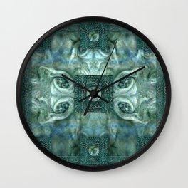 """Blue baroque astral fantasy"" Wall Clock"