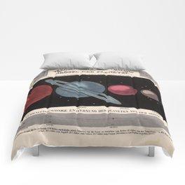 Vintage Solar System Size Comparison Chart (1855) Comforters