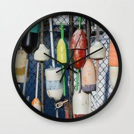 Buoys at Boston Harbor Wall Clock