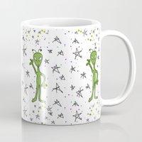 aliens Mugs featuring Aliens by Bohemian Bear by Kristi Duggins