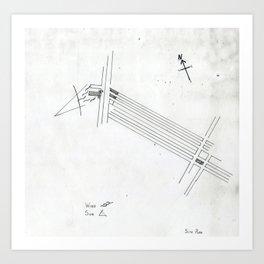 Site Plan Art Print