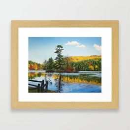 Ivy Island in Autumn Framed Art Print