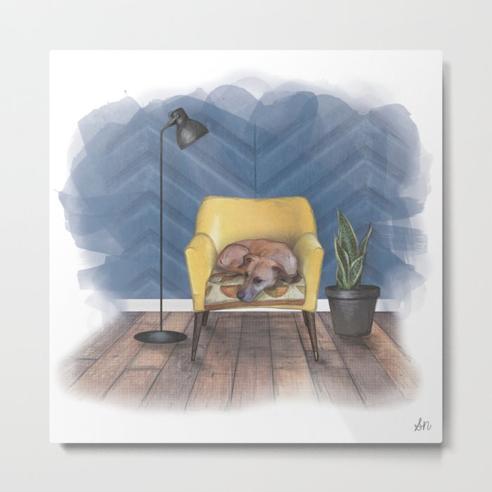 Home is Where Your Dog is Metal Print