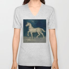 "Vincent van Gogh ""Plaster Statuette of a Horse"" Unisex V-Neck"