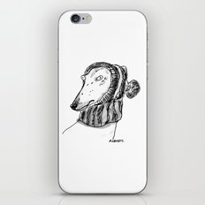 winter greyhound iPhone Skin