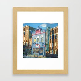 Downtown West Bend Painting Framed Art Print