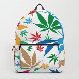 marijuana leaf color pattern Backpack