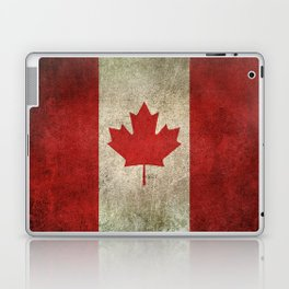 Old and Worn Distressed Vintage Flag of Canada Laptop & iPad Skin