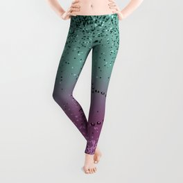 Mermaid Lady Glitter Heart #1 #shiny #decor #art #society6 Leggings