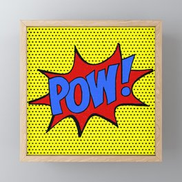 Pow! Framed Mini Art Print