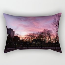 Boston Common Sunset Rectangular Pillow