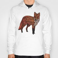 snow Hoodies featuring Red Fox by Ben Geiger