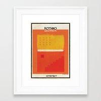 rothko Framed Art Prints featuring Rothko+legorreta by federico babina