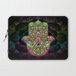 Hamsa Hand Amulet Psychedelic Laptop Sleeve