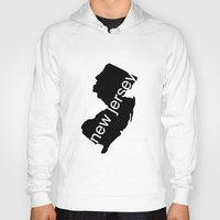 new jersey Hoodies featuring New Jersey by Isabel Moreno-Garcia