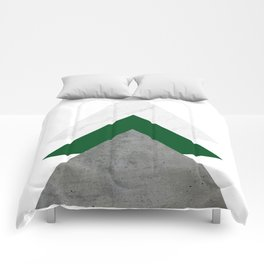 Marble Green Concrete Arrows Collage Comforters