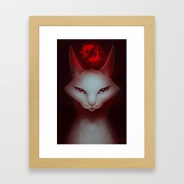 Vampire Cat Framed Art Print