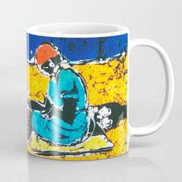 Emily paints her Story, AUSTRALIA                   by Kay Lipton Coffee Mug