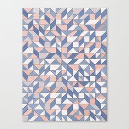 Shifting geometric pattern Canvas Print