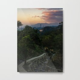 View from Maokong Village at Sunset Metal Print