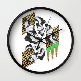 Bent Chrome Junk // Frozen Paint Drop Wall Clock