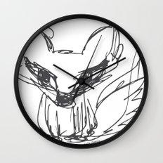 Fox Sketch Wall Clock