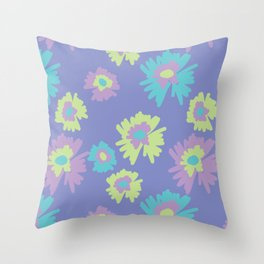 flowers pattern print floral spring Throw Pillow