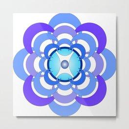 Blue Orchid by Freddi Jr Metal Print