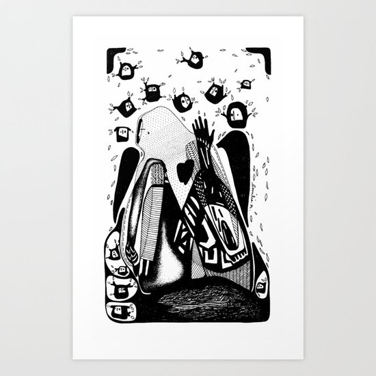 The you-Emilie Record Art Print