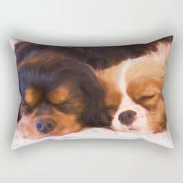 Sleeping Buddies Cavalier King Charles Spaniels Rectangular Pillow