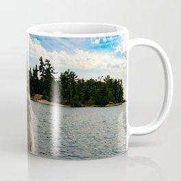 husky dog overlooking lake Coffee Mug