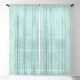 Centered in Sage Sheer Curtain