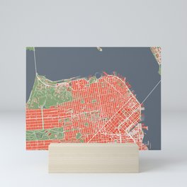 San Francisco city map classic Mini Art Print