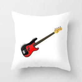 Fretless Bass Guitar Throw Pillow