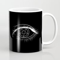 baphomet Mugs featuring Window To The Soul by Purgatouri