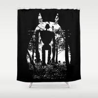 hayao miyazaki Shower Curtains featuring Miyazaki Forest by kamonkey