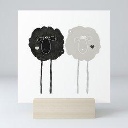 Ying Yang Sheep Mini Art Print