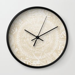 Medallion Pattern in Pale Tan Wall Clock