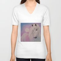 serenity V-neck T-shirts featuring Serenity by Christine's heART