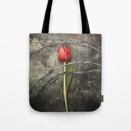 Tulip and barbed wire Tote Bag